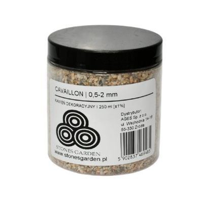 ✅Słoik Kruszywo Cavaillon 0,5-2 mm - stonesgarden.pl ®