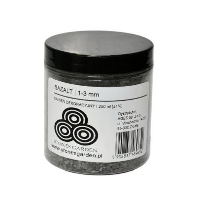 ✅Słoik Kruszywo Bazalt 1-3 mm - stonesgarden.pl ®