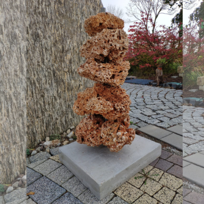 Kompozycja Dekoracyjna Z Kamienia Spaghetti