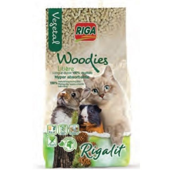 RIGA Rigalit Woodies 6kg- Ściółka Drewniana W Formie Granulatu