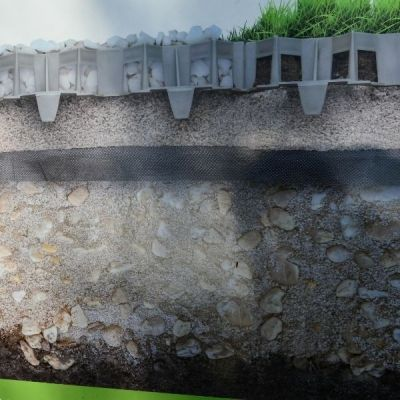 Kratka Drogowo-trawnikowa Stella Green Czarna- stones garden