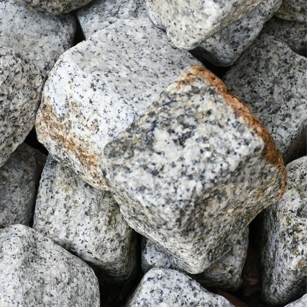 ❤️ Kostka Granitowa 8 x 11 cm SZARO-ŻÓŁTA Obtaczana-Stonesgarden.pl ®
