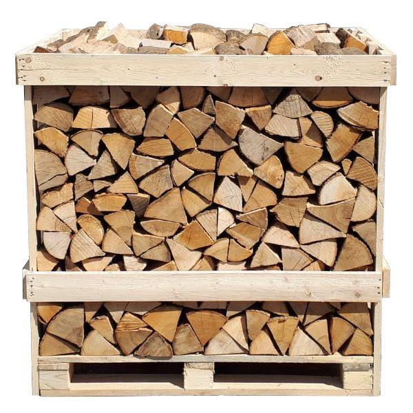 Świerk Drewno Suche Skrzyniopaleta 1 Metr Przestrzenny