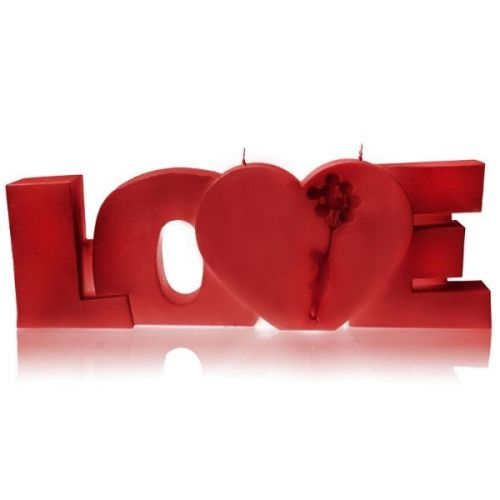 Świeca Dekoracyjna Napis Love