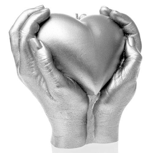 Świeca Dekoracyjna Serce W Dłoniach