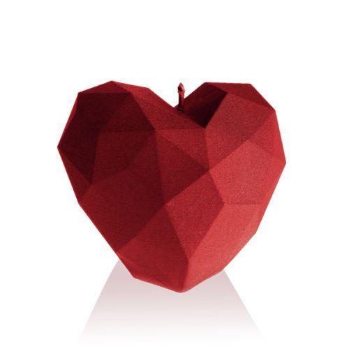 Świeca Dekoracyjna Serce Geometryczne