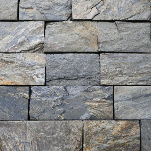 Łupek Szarogłazowy Kamień Elewacyjny Cięty Czterostronnie 12cm